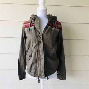 Roxy•Boho Green Utility Jacket